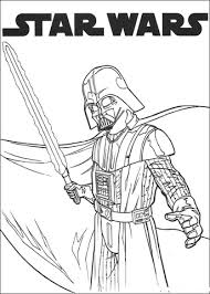 Darth Vader With Lightsaber Coloring Page Free Printable Darth Vader Coloring Pages