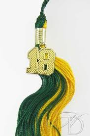 custom graduation tassels green and gold tassel for 2018 graduation with gold year date