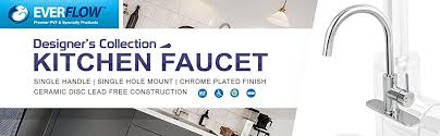 kitchen faucet brand logos everflow kitchen faucet single handle single mount chrome