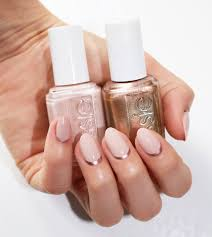 toppless and barefoot and penny talk essie pink light pink copper