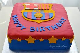 plain decoration barcelona birthday cake picturesque design ideas