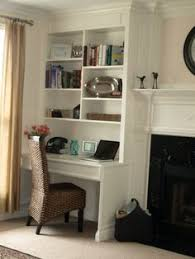 Built In Bookshelves With Desk by Diy Built In Bookcase And Desk Perfect On The Opposite Wall Of