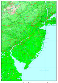 New Jersey Map New Jersey Elevation Map