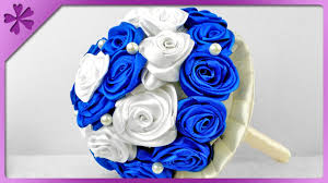 bouquet for wedding diy ribbon roses bouquet for wedding eng subtitles speed up