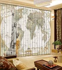 Best Curtains For Bedroom Online Get Cheap Map Window Aliexpress Com Alibaba Group
