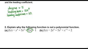 leading degree leading term of a polynomial college algebra youtube