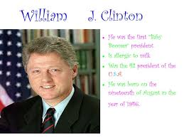 George H W Bush Date Of Birth Mrs Davis U0027 Class President U0027s Day Powerpoint J Clinton He Was The