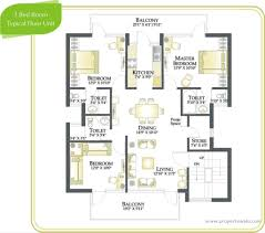Floor Plan Bank by Rps Palms Sector 88 Faridabad Residential Project