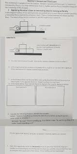 newton u0027s second and third laws this worksheet is a chegg com