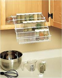 Spice Rack Countertop Amazon Com Rubbermaid Pull Down Spice Rack Kitchen U0026 Dining