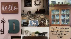 my farmhouse living and dining room tour home decor youtube
