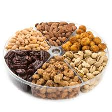 fruit and nut gift baskets sweet spicy selection nut 6 section gift platter nut gift