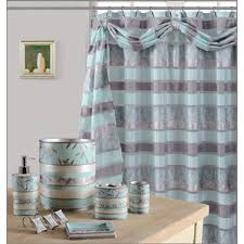 Green And Brown Shower Curtains Striped Shower Curtains You U0027ll Love Wayfair