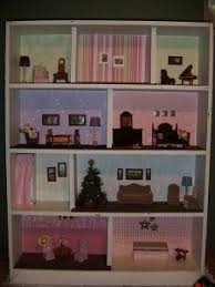 Modistamodesta Another Large Barbie House by Simple Livin Diy Barbie Doll House Use Wood Grain Contact Paper