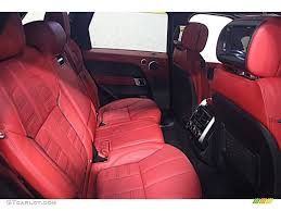 White Range Rover With Red Interior 2014 Land Rover Range Rover Sport Autobiography Rear Seat Photo