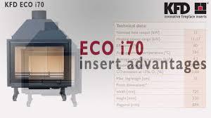 kfd eco i70 fireplace insert www kfdesign eu youtube