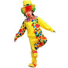 purim party supplies 2018 kids children colorful dot clown costume magician
