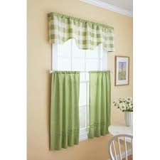 Shower Curtain And Valance Better Homes And Gardens Checkered And Solid Tier And Valance Set