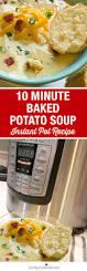 10 minute instant pot baked potato soup pressure cooker recipe