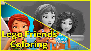 lego friends coloring pages for kids friends are forever part 3
