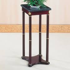 plant stand coaster accent stands green marble top plant stand