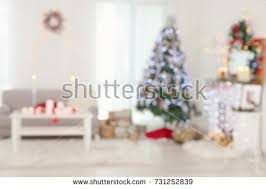 blurred view beautiful room decorations stock photo