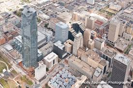 oklahoma city photographers aerial photos of energy tower and downtown okc oklahoma