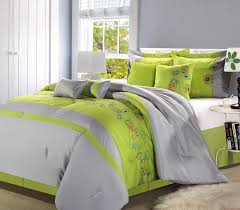 Black And Green Bedding Clearance 8pc Luxury Bedding Set Megan Grey Neon Green