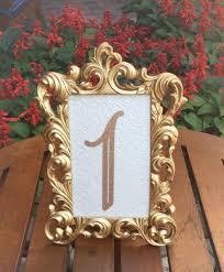 gold table number frames table number frames 4 x 6 gold wedding frames ornate baroque style