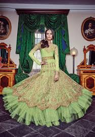 pista green color designer anarkali salwar suit