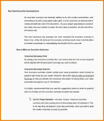 7 example of an executive summary nypd resume