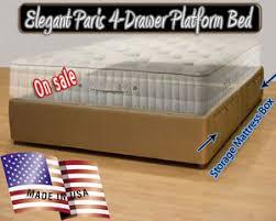 California King Platform Bed Frame California King Platform Bed Frame Storage Bed Micro Fiber Many
