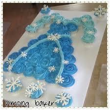 Elsa Pull Apart Cupcake Cake A Frozen Elsa Cake Princess Dress - Pull apart cupcake designs