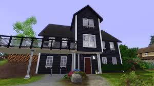 White House With Black Trim Mod The Sims Norwegian House