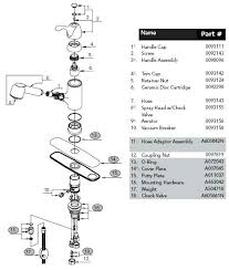 pegasus kitchen faucets parts kitchen faucet parts sink repair peerless diagram pegasus moen