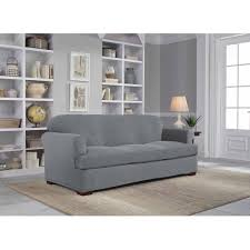 Walmart Slipcovers For Sofas by Serta Stretch Grid Slipcover Sofa 2 Piece T Cushion Walmart Com