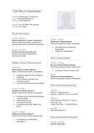 Lebenslauf Vorlage Usa Lebenslauf Muster 14 Lebenslauf Designs Ilir