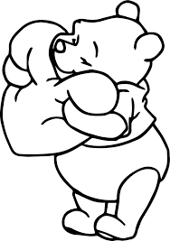 winnie the pooh heart pillow coloring page wecoloringpage