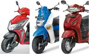Honda Rugged Scooter Honda Cliq Vs Honda Activa 4g Vs Honda Dio Spec Comparison Ndtv