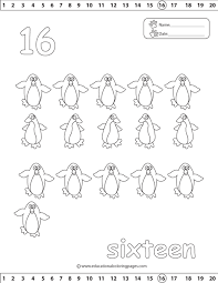 counting 1 20 coloring pages