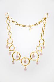 gold quartz necklace images Love forgiveness rose quartz necklace divya amin jpg