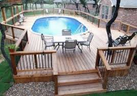 wood deck kits for above ground pools deck design and ideas wooden