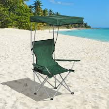 Outdoor Folding Chairs With Canopy Outsunny Folding Canopy Chair Outdoor Camp Picnic Portable