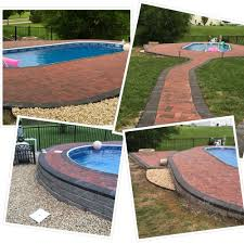 Pool Patios by 11 X 24 Oval Radiant Pool Installed In Ground Brick Pool Patio