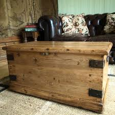 Coffee Table Chests Victorian Pine Chest Storage Trunk Coffee Table Vintage Blanket
