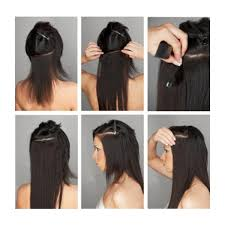 human hair clip in extensions italian yaki human hair in hair extensions ce04