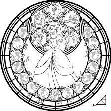 stained glass ariel remastered line art by akili amethyst on