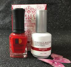 lechat red haute perfect match gel polish u0026 nail lacquer pms189 i