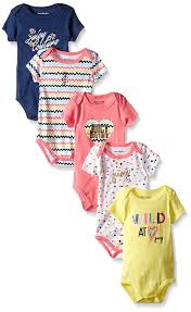 Juicy Couture Home Decor Amazon Com Juicy Couture Baby Girls U0027 5 Pack Short Sleeve Bodysuit