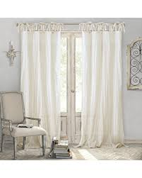 Single Panel Window Curtain Designs Big Deal On Elrene Home Fashions Crushed Semi Sheer Adjustable Tie